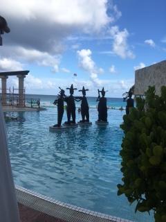 Poolside art